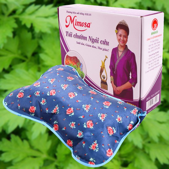 Túi chườm ngải cứu Mimosa - Sưởi ấm , Giảm đau, Thư giãn !