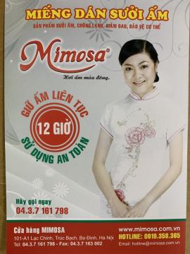 Miếng dán nhiệt sưởi ấm Mimosa (10 miếng/bịch)
