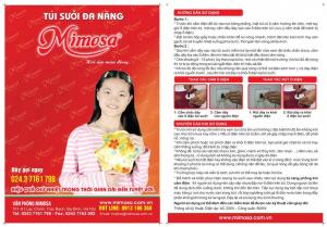 Túi sưởi Mimosa loại to TS001